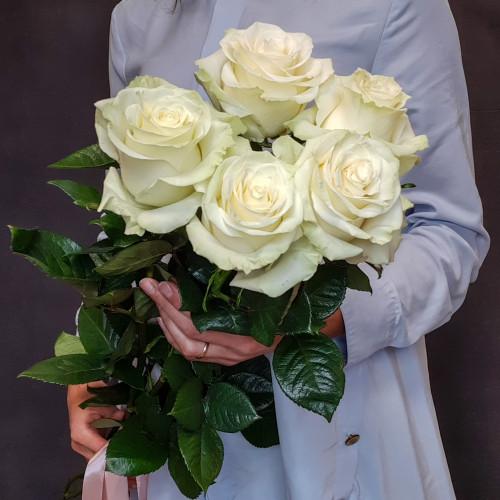Элитные белые розы от FlorPresent