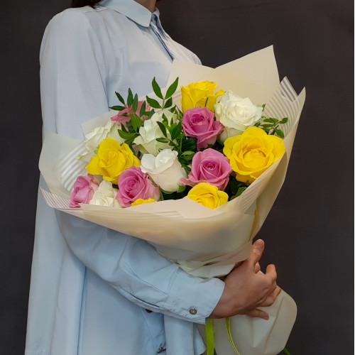 Роза микс от FlorPresent