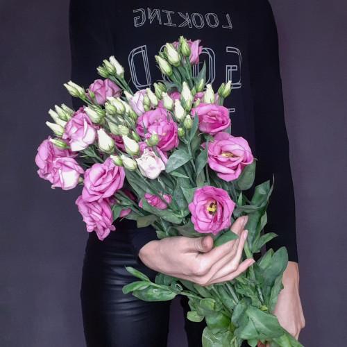 Розовая эустома от FlorPresent
